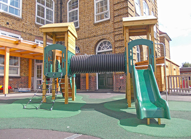 Play-towers-and-slide