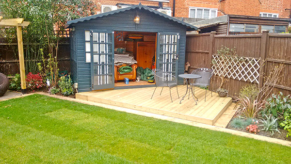 New landscaping and refurbished summer house